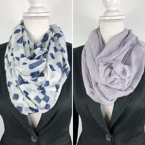 Blue Star • NWT 2-Pack Blue & Gray Infinity Scarf
